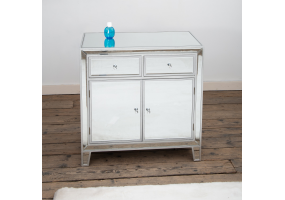 Silver Leaf Mirrored Cabinet
