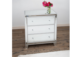 Silver Leaf Mirrors Chest Of 3 Drawers