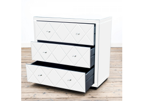 Diamond Mirrored Chest of 3 Drawers