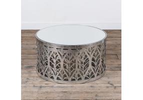 Silver Gilt Leaf Parisienne Metal Nests of Tables