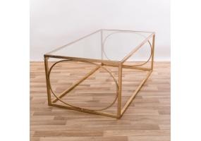 Gold Gilt Leaf Parisienne Metal Coffee Table