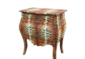 Lounge Lizard 2 Drawer Tiger Bombe Chest