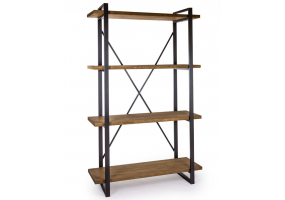 CAMDEN METAL AND WOOD LARGE SHELF UNIT