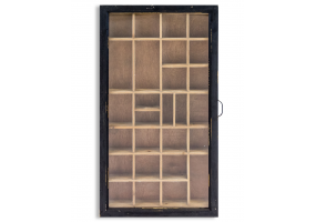 Antiqued Wooden Wall Display Cabinet
