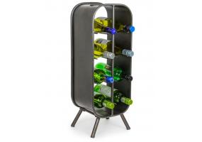 Camden Metal Industrial Small 8 Bottle Wine Rack