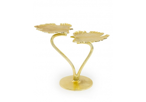 Gilded Double Ginkgo Leaf Side Table