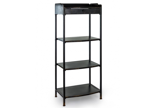 "Black Metal ""Verne"" Tall Shelf Unit"