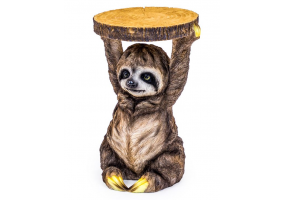"""Sloth Holding """"Trunk Slice"""" Side Table"""