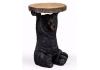 "Black Bear Holding ""Trunk Slice"" Side Table"