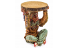 """Native American Chief Holding """"Trunk Slice"""" Side Table"""