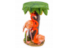 Under Palm Tree Pair Of Flamingos Side Table