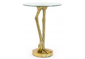Antiqued Gold Bird Leg Side Table