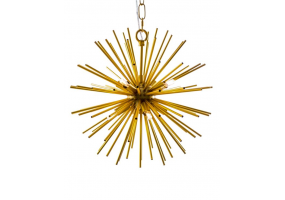 Gold/Brass Spiked Ceiling Pendant