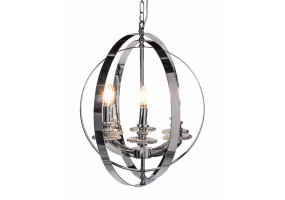 Large Chrome Sphere Chandelier