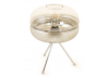 Chrome Tripod Table Lamp with Chromed Gradient Glass Shade