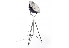 Black and Nickel Large Tripod Floor Lamp