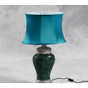 Mosaic Lamp with Oval Shade - Blue
