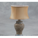 Mosaic Lamp with Oval Shade - Gold