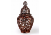 Large Copper/Rose Gold Pierced Jar with Lid