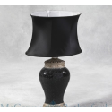 Mosaic Lamp with Oval Shade - Black