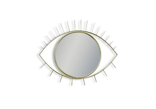 Metallic Gold Eye Wall Mirror