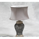 Mosaic Lamp with Oval Shade - Silver