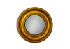 Antiqued Gold Deep Framed Medium Convex Mirror