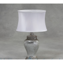 Mosaic Lamp with Oval Shade - White