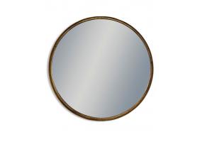 Large Black and Bronze Deep Framed Cylinder Mirror