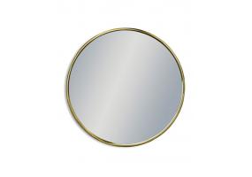 Medium Round Vintage Brass Style Framed Wall Mirror