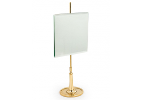 Square Table Mirror on Brass Stand