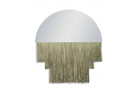 Large Boho Mirror with Gold Fringe