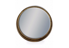 Medium Black and Bronze Deep Framed Cylinder Mirror
