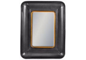 Black and Bronze Rectangular Lincoln Wall Mirror