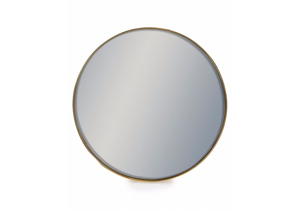 Small Round Gold Framed Arden Wall Mirror