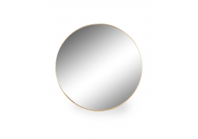 Large Round Gold Framed Arden Wall Mirror