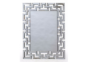 "Large Rectangular ""Grecian Key"" Venetian Mirror"