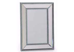 Small Venetian Pearled Style Edge 'Mayfair' Glass Wall Mirror
