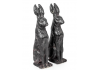 Pair of Small Rustic Rabbit Figures