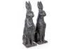 Pair of Large Rustic Rabbit Figures