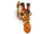 Ceramic Giraffe Head Wall Sconce Vase
