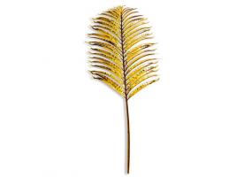 Metallic Gold Large Single Palm Leaf