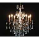 Large Antique French 8 Branch Chandelier