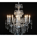 Large French Silver 8 Branch Chandelier