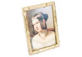 "Antique Gold 4x6"" Bamboo Photo Frame"