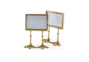 "Pair of Antique Gold 5x7"" Duck Feet Landscape Photo Frames"