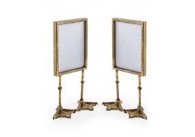 "Pair of Antique Gold 5x7"" Duck Feet Portrait Photo Frames"