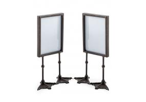 """Pair of Antique Black 5x7"""" Duck Feet Portrait Photo Frames"""