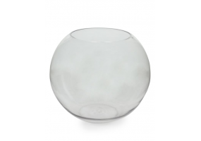 Extra Large Clear Glass Round Bowl