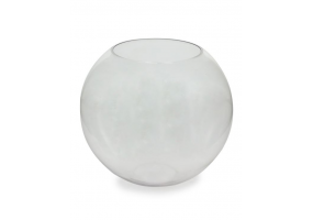 Large Clear Glass Round Bowl